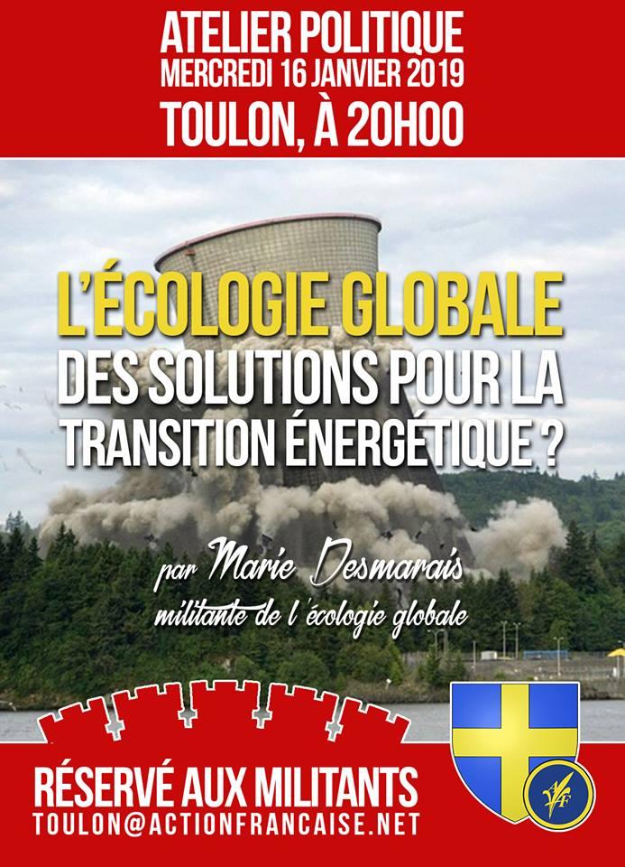 L'AF Toulon invite ses militants à son atelier sur l'écologie le 160119