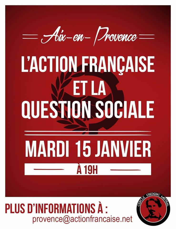 L'AF AIX VOUS INVITE 0 SON CERCLE SUR LA QUESTION SOCIALE LE 150119