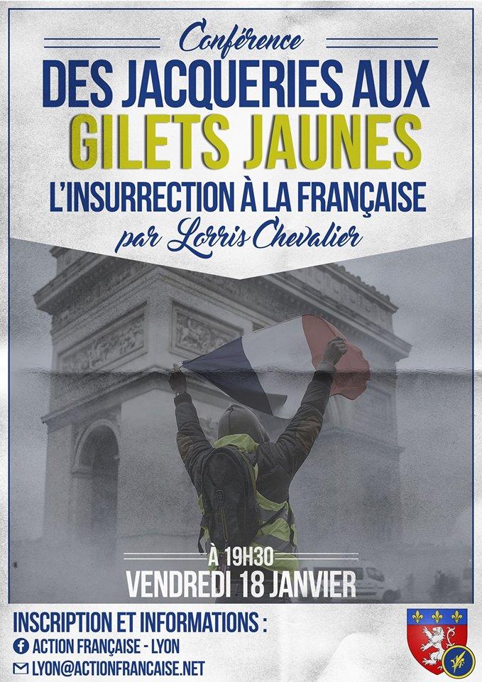 L'AF Lyon vous invite à son cercle sur les insurrections françaises le 180119