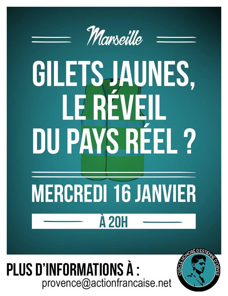 L'AF Marseille vous invite à son cercle sur les gillets jaunes et le pays réel lee 160119
