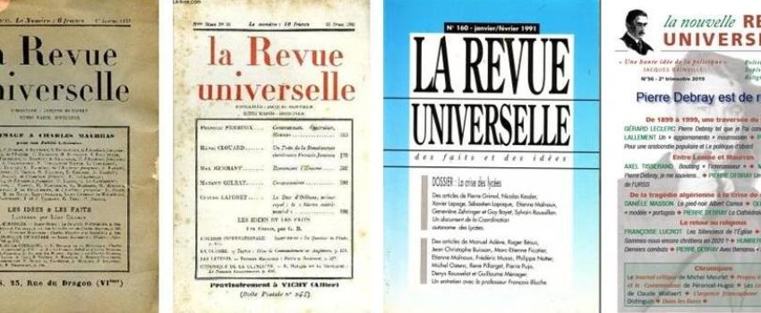 La revue Universelle à100 ans!