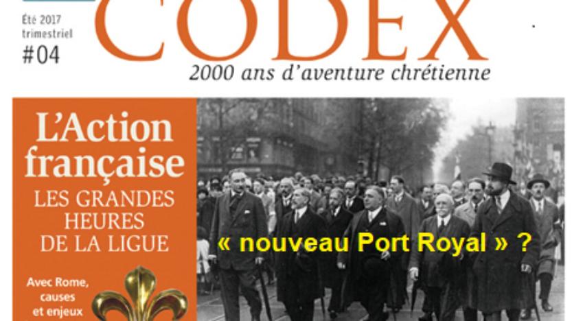 Série: Le legs d'Action française; rubrique 5: La crise de 1926, un «nouveau Port Royal»?