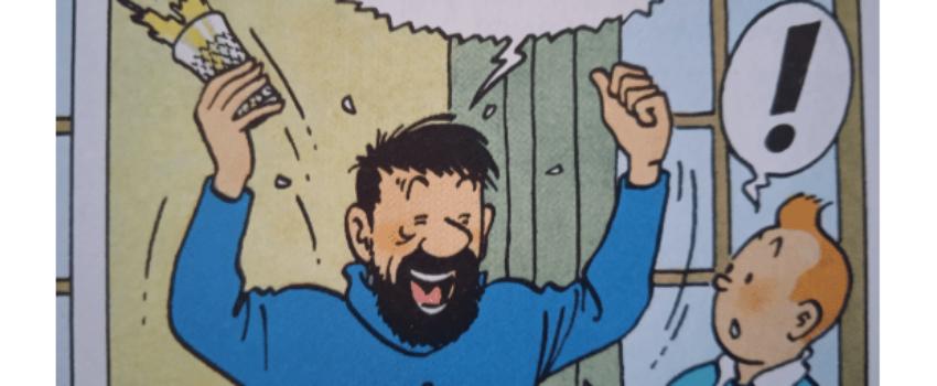 Capitaine Haddock: 80 balais et pas un seul cheveublanc!