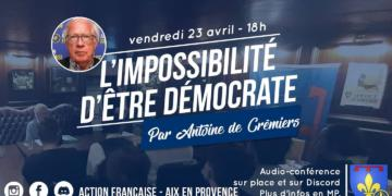 Aix : Audio-Confé­rence du 23 avril