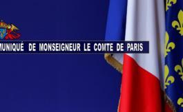 Mgr le Comte de Paris appelle les français à respecter les mesures de confinement