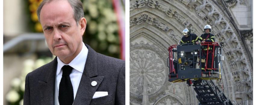 Le Comte de Paris apporte son soutien aux pompiers en action àNantes