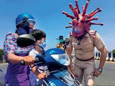 UN ÉTAT ÉCO-POLICIER POUR UNE SOCIÉTÉ ÉCO-CONCENTRATIONNAIRE ? dans actualités masque-coronavirus-india-chennai
