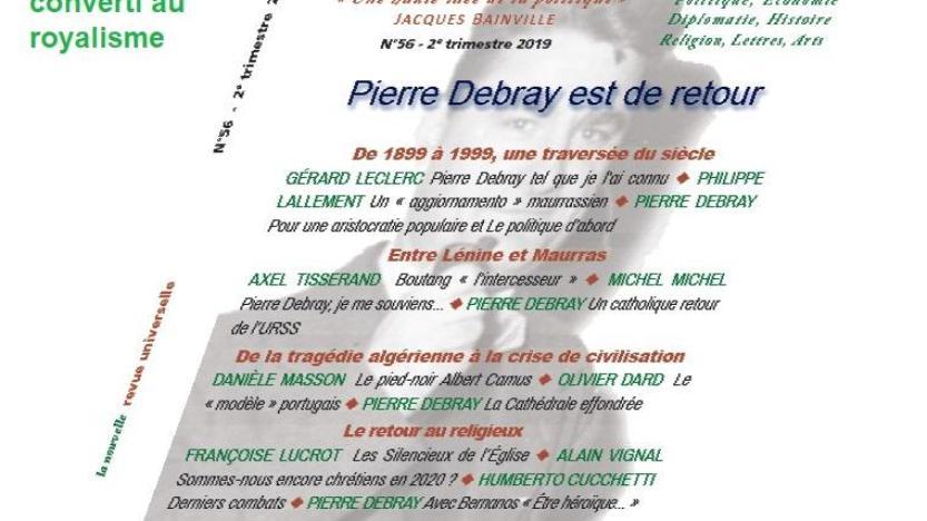 Série: Le legs d'Action française; rubrique 9: Le catholique pro-soviétique Pierre Debray converti au royalisme