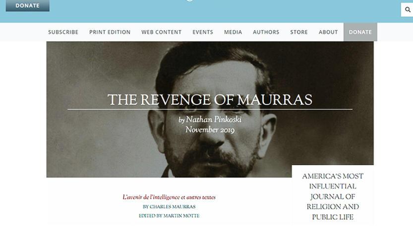 «La revanche de Maurras»: c'est du Canada anglophone que nous vient cet article-fleuve