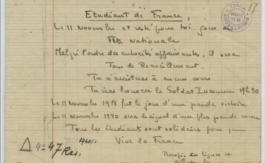 Premier acte de résistance àl'ennemi: Le 11 novembre 1940